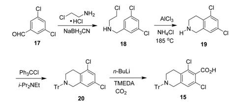 图6 化合物15的合成路线