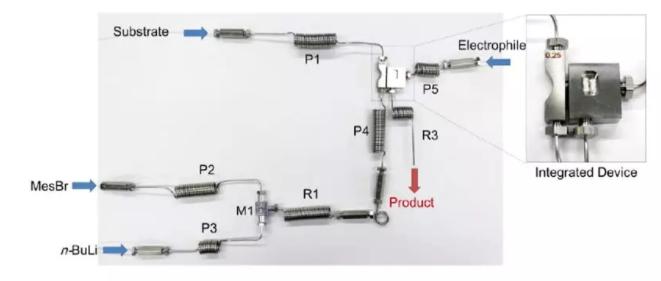微流控反应器设计实体图