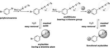 在流动微反应器中4-叠氮溴苯的卤素-锂交换反应