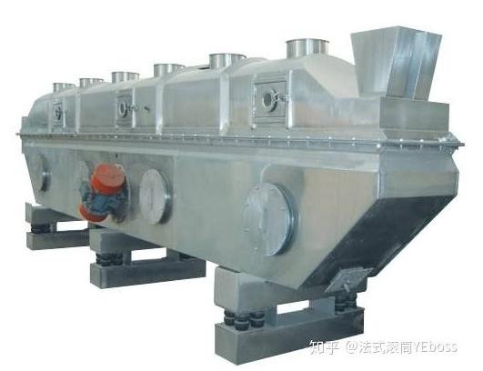 振动流化床干燥机,用机械振动辅助流化,优点是设备高度可以降低,操作也比流化床灵活,现在已经是非常常见的设备了。