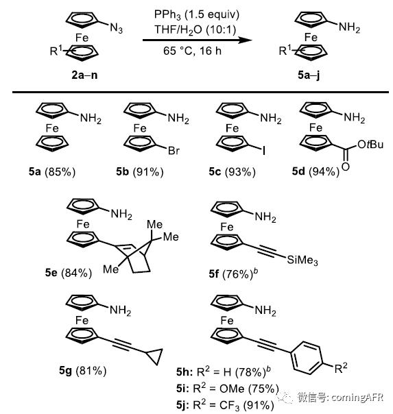 图4. 功能性二茂铁胺的种类