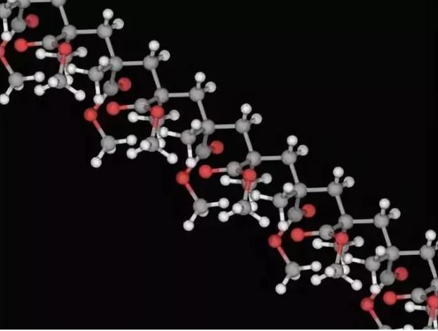 图2是PMMA的分子结构3D模型