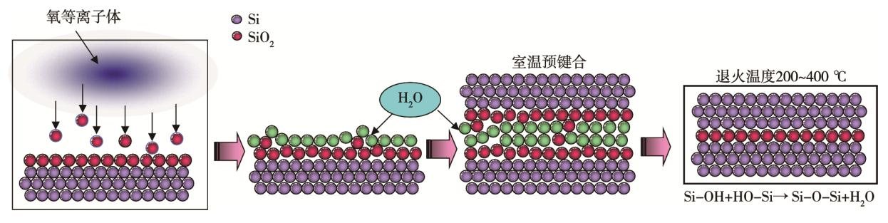 图4 等离子体活化键合原理