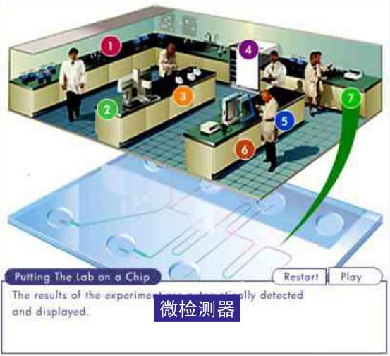 微流控芯片实验室 - 微检测器